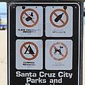 Santa Cruz Beach Sign At The Santa Cruz Beach Boardwalk California 5d23840 by Wingsdomain Art and Photography