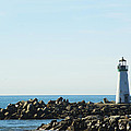 Santa Cruz California Lighthouse by Barbara Snyder