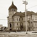 Santa Cruz High School On Walnut Street. Circa 1910 Photo By Besaw by California Views Archives Mr Pat Hathaway Archives