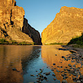 Santa Elena Canyon And Rio Grande by Larry Ditto