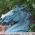 Santa Fe Big Blue Horse by Sylvia Thornton