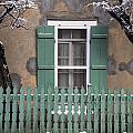 Santa Fe Green Windows And Fence by Dave Dilli
