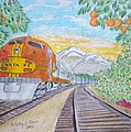 Santa Fe Super Chief Train by Kathy Marrs Chandler