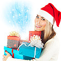 Santa Girl With Gifts by Anna Om