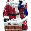 Santa Greeting Card by Jay Milo