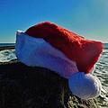Santa Hat And Ocean 10 12/19 by Mark Lemmon