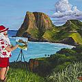 Santa In Kahakuloa Maui by Darice Machel McGuire