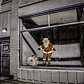 Santa In Window by Ray Congrove