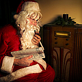 Santa Listening To The Weather Report by Diane Diederich