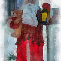 Santa Merry Christmas Photo Art 02 by Thomas Woolworth