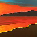 Santa Monica Beach And Mountains by Brenda Helt