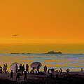 Santa Monica Beach Sunset by Ben and Raisa Gertsberg