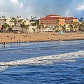 Santa Monica Beach View  by Lynn Bauer