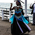 Santa Monica Belly Dancer by Tommy Anderson