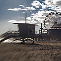End Of The Day Or Times At Santa Monica Pier by Scott Campbell