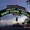Santa Monica Pier At Dusk by Rick Pisio