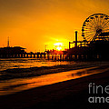 Santa Monica Pier California Sunset Photo by Paul Velgos