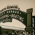 Santa Monica Pier Sign by David Millenheft