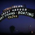 Santa Monica Pier Sign by Mountain Dreams