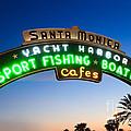 Santa Monica Pier Sign by Paul Velgos