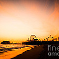 Santa Monica Pier Sunset Southern California by Paul Velgos