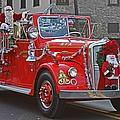 Santa On Fire Truck by Tom Gari Gallery-Three-Photography
