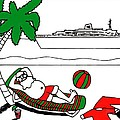 Santa On Vacation by Genevieve Esson