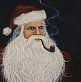 Santa With His Pipe by Darice Machel McGuire