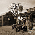 Santa Ynes Gas Station    Sepia by J L Woody Wooden