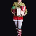 Santa's Helper Merry Christmas Elf Card by Edward Fielding
