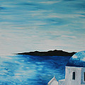 Santorini Blue Dome by M Bleichner