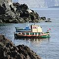 Santorini Boats by Brenda Salamone
