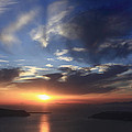 Santorini Sunset Cyclades Greece  by Ivan Pendjakov