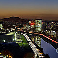 Sao Paulo Skyline At Dusk - Jockey Club - Pinheiros River Towards Pico Do Jaragua by Carlos Alkmin