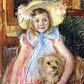 Sara And Her Dog by Mary Stevenson Cassatt