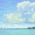 Sarasota Skyline From Sarasota Bay by Susan Molnar