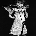 Sassy Cupid Bw by Lesa Fine