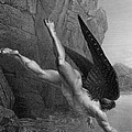 Satan Plunges Into The River Styx by Richard Edmond Flatters