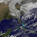 Satellite View Of A Noreaster Storm by Stocktrek Images
