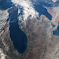 Satellite View Of Great Lakes by Panoramic Images