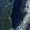 Satellite View Of Lake Michigan by Panoramic Images