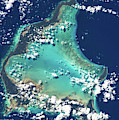 Satellite View Of Turks And Caicos by Panoramic Images