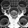Saturn Five Rocket Work B by David Lee Thompson