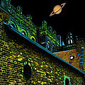 Saturn Over Pabst Brewery Fantasy Image Of Abandoned Home Of Blue Ribbob Beer From 1860  by Lawrence Christopher