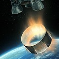 Saturn V Interstage Separation, Artwork by Science Photo Library