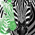Savannah Greetings Zebra Cane Full Green Variant by Silas Amunga