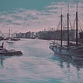 Savannah Harbor 1900 by Warren Thompson