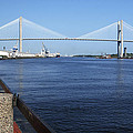 Savannah River Bridge Ga by Bob Pardue