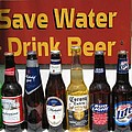 Save Water Drink Beer by Stacey May