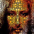 Savior - Stone Rock'd Jesus Art By Sharon Cummings by Sharon Cummings